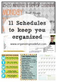 11 Great Schedules to keep you organized | Organizing Made Fun: 11 Great Schedules to keep you organized