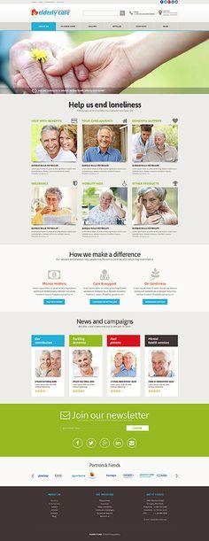 Template 51801 - Elderly Care  Responsive Joomla Template
