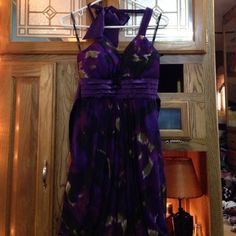 Fashion Homecoming Dress! Size Medium. Perfect Condition. Zipper back with tie in the back. Make an offer! My Michelle Dresses