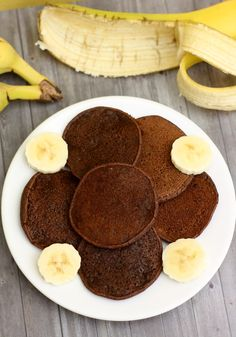 Pancakes à la banane et cacao (sans œuf, sans sucre)