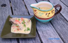 Creamy Shrimp Sauce (for Tuna) Tuna Steaks, Carole, Grated Cheese, Quotations, Shrimp, Veggies, Stuffed Peppers, Cooking, Recipes