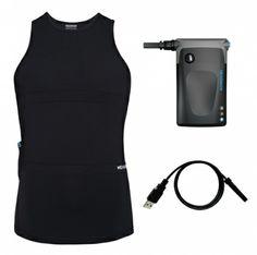 Hexoskin garment – compression sports shirt with integrated sensors Hexoskin device – smart Bluetooth™ recording device
