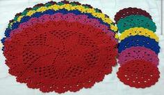 Sousplat de crochê Ao finalizar a compra envie uma mensagem com a quantidade e a cor desejada.