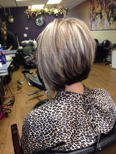 High Stacked Bob Haircut