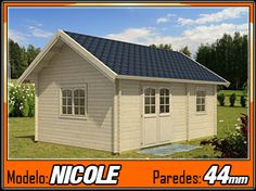 Bungalows de madera Nicole 30m2 - Casas de Madera y bungalows en Tarragona   Diseños a medida
