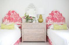 Pagoda print bedhead - Online Store - Kristy Lee Interiors