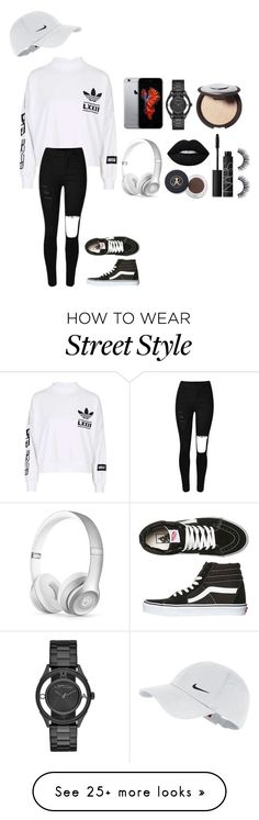 """Street style"" by itsfeliciarose on Polyvore featuring NIKE, Vans, Marc by Marc Jacobs, Beats by Dr. Dre, Lime Crime and NARS Cosmetics"