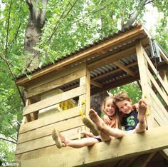 Simple Tree House Plans For Kids the treehouse ~ mom and her drill very simple, easy-to-build tree