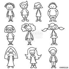Figuren doodling doodle art, drawings и doodle people Doodle Drawings, Doodle Art, Easy Drawings, Cartoon Drawings Of People, Drawing People, Doodle People, Stick Figure Family, Sketch Notes, Cute Doodles