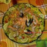 Paella di carne e pesce Paella, Carne, Zucchini, Vegetables, Food, Essen, Vegetable Recipes, Meals, Yemek