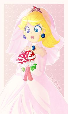 Bride Peach is my life! The thing I like the most is her bouquet haha So who's excited for Super Mario Odyssey? Odyssey, ya see Mario And Princess Peach, Princess Daisy, Super Mario Brothers, Super Mario Bros, Metroid, Mario Fan Art, Princess Toadstool, Nintendo Princess, Pokemon