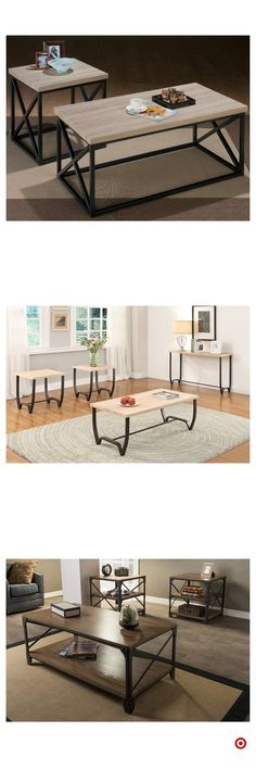 Shop Target for occasional table set you will love at great low prices. Free shipping on orders of $35+ or free same-day pick-up in store. Entertainment Table, Dream Apartment, Apartment Living, Live Edge Table, Extra Rooms, Futuristic Furniture, Fashion Room, Queens, Family Room