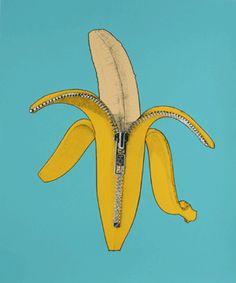 Unzipped Ba-nana 🍌🍌🍌 like our Banilla - nananicecream Kitchen Prints, Kitchen Art, Banana Art, Nice Cream, Best Fruits, Art Club, Name Cards, Food Art, Pattern Design