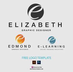 Download free logo template for photographers or personal brands. Customize color and text. Font incliuded. PSD, Ai and eps formats included. Free Logo Templates, Photoshop Brushes, Personal Branding, Free Stock Photos, Free Design, Design Projects, Photographers, Graphic Design, Learning