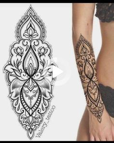 #wristtattoos Henna Tattoos, Lotusblume Tattoo, Paisley Tattoos, Bild Tattoos, Forearm Tattoos, Body Art Tattoos, Forearm Mandala Tattoo, Mandala Tattoo Design, Henna Tattoo Designs