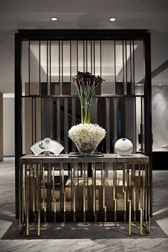 43 Stunning Modern Partition Design Ideas For Living Room Contemporary Interior Design, Modern Interior, Luxury Interior, Interior Architecture, Interior Paint, Interior Decorating, Console Design, Living Room Divider, Partition Design