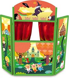 Vilac Wooden Puppet Theatre, Fairy Tales (Discontinued by Manufacturer) Projects For Kids, Craft Projects, Wooden Puppet, Diy And Crafts, Crafts For Kids, Toy Theatre, Marionette, Puppet Show, Hand Puppets