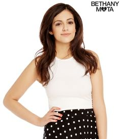 Solid Sleeveless Cross-Back Crop Top - Summer Bethany Mota Collection