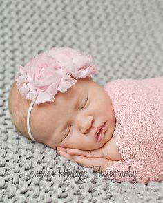 newborn in pink Jennifer Hosking Photography