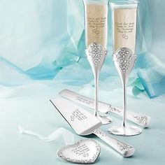 Personalized Seed Pearl Wedding Set , Add Your Message