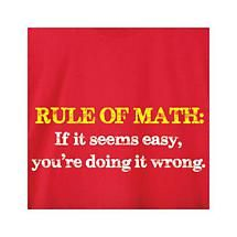 Rule Of Math Shirt