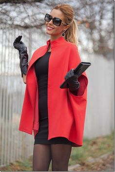 red cape jacket