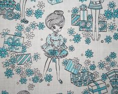 vintage fabric... looks like its from the 60's