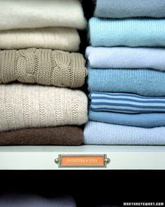 It's been a while since Mom folded them for you (we hope), so it's about time to learn how to properly fold your cool-weather pullovers. Shoving sweaters in the bottom of your drawers was fun through college, but now's the time to smooth the creases from your new, Martha-style life. A sweater, folded correctly, will be wrinkle-free and ready-to-wear.