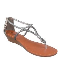 Take a look at this Pewter Friday Sandal by Carlos by Carlos Santana on #zulily today!