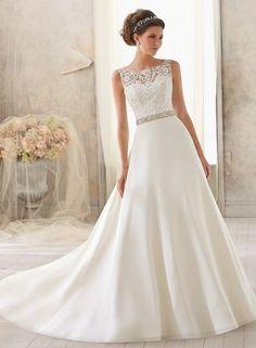 2014 retro elegant enkel Bröllopsklänningar B009686