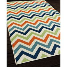 Indoor/ Outdoor Multi Chevron Rug (6u00277 X ...