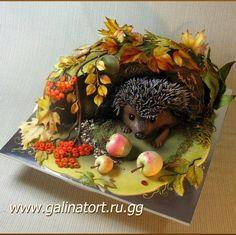 32 New Ideas For Birthday Cake Decorating Creative Fondant Hedgehog Cake, Hedgehog Birthday, Birthday Cake Decorating, Cake Decorating Supplies, Fondant Cakes, Cupcake Cakes, Birthday Cake With Flowers, Cake Birthday, Woodland Cake
