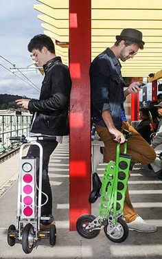 "This Electric Scooter Folds Up So Tiny, You Can Take It Anywhere -The designers of URB-E wanted to solve the ""last mile"" problem—how to easily get to and from public transit so that driving isn't a more convenient option. 