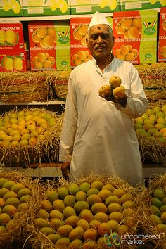 Showing Off His Mango Selection - Crawford Market, Mumbai