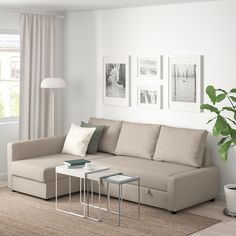 IKEA - FRIHETEN, Corner sofa-bed with storage, Hyllie beige, This sofa converts quickly and easily into a spacious bed when you remove the back cushions and pull out the underframe. Sofa, chaise longue and double bed in one. Ikea Friheten, Friheten Sofa Bed, Sofa Cama Ikea, Ikea Sofas, Ikea Sectional, 3 Seat Sofa Bed, Sofa Bed With Chaise, Corner Sofa Bed With Storage, Bed Storage