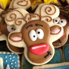 Fun and festive reindeer Christmas cookies!
