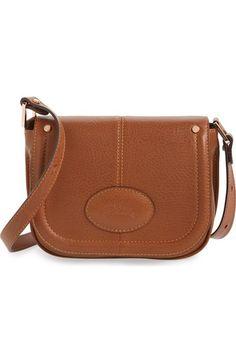 Longchamp 'Small Mystery' Leather Crossbody Bag - Cognac