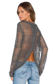 LA Made Jackie Sweater in Steel | REVOLVE