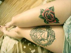 legs rose oldschool tattoos tattoo
