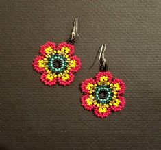 Bead earrings Appx 1.5 inches long plus hook
