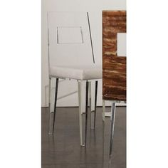Shahrooz Contempo Acrylic Side Chair (Set of 4) Upholstery: Mandarin, Finish: Clear