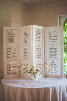 window shutter seating chart - brides of adelaide
