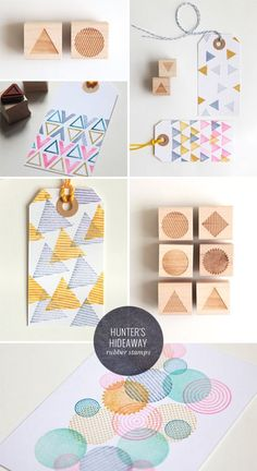Geometric Rubber Stamps | Hunter's Hideaway