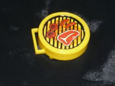 Fisher Price Little People Vintage Barbecue Grill Food Yellow | eBay