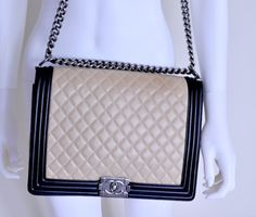 Authentic Chanel Boy Bag, Large, Like New, Full Set Chanel Handbags, Full Set, Chanel Boy Bag, The Ordinary, Gypsy, Shoulder Bag, Board, Accessories, Belts