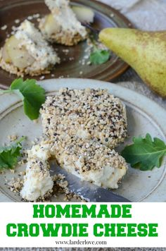 A super easy recipe for making homemade crowdie by larder love. How To Make Cheese, How To Make Bread, Cheese Baskets, Health Food Shops, Leafy Salad, Flavored Butter, Scottish Recipes, Homemade Yogurt