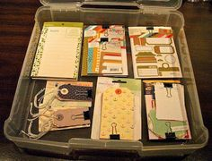 Life & Memories: This Month in My Scrap Room: May 2013 - Love the binder clip idea!
