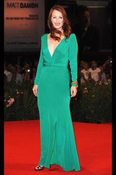 Julianne Moore   Tom Ford   100 Best Red Carpet Dresses of All Time - Most Iconic Red Carpet Looks - Harper's BAZAAR
