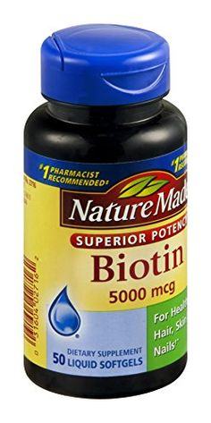 Nature Made Biotin Liquid Softgels  5000 MCG 50 CT *** Visit the affiliate link Amazon.com on image for more details.