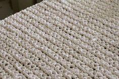 DIY finished rag rug crochet old sheets